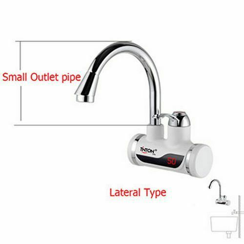 Electric Hot Water Heater Faucet Kitchen Instant Tankless Heating Tap Bathroom