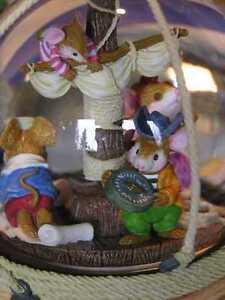 Sammeln & Seltenes Weitere Sammelgebiete Wunderschöne Beleuchtete Spieluhr Schneekugel Mit Licht Mäuse Im Piratenschiff,#