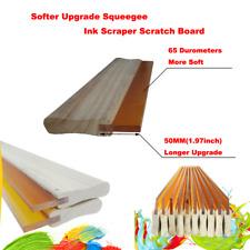 3pc 13inch Silk Screen Printing Squeegee Ink Scraper Scratch Board 65 Durometer
