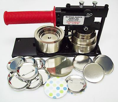 2-1/4 2.25 Inch Standard Tecre Button Maker Machine & 1000 Pin Back Button Parts