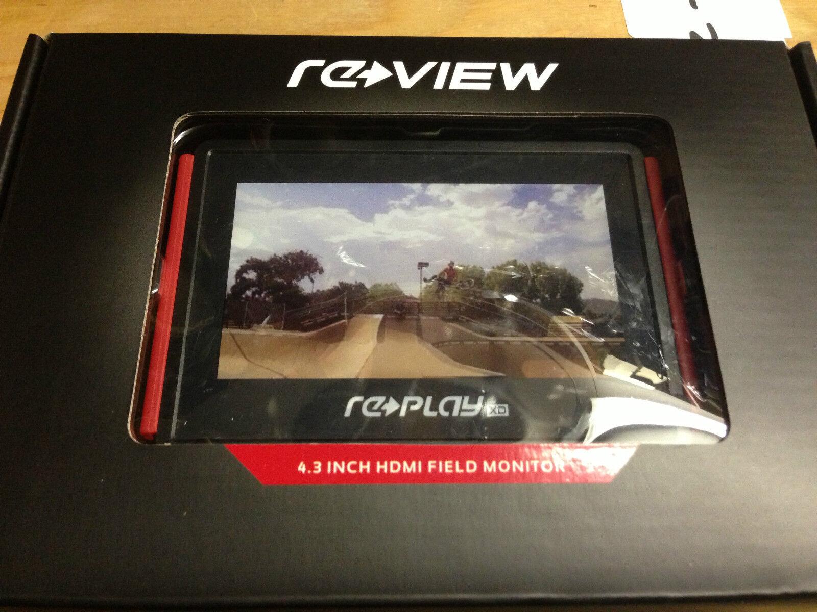Replay XD Revisa de Monitor HD LCD TFT de Revisa entrada HDMI construido en batería 10-RPXD-LCD-4.3 7ff7cf