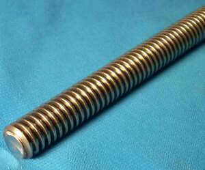 "1 start Acme threaded rod for lead screw CNC 6 foot 5 x 72 inch 304070 1/"""
