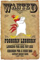 Foghorn Leghorn Wanted Poster Fridge Magnet 2. 3.5x5. Looney Tunes...free Ship