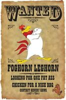 Foghorn Leghorn Wanted Poster Fridge Magnet 2. 3.5x5. Looney Tunes...free Ship