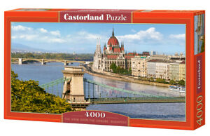 "Castorland Puzzle 4000 Pieces - DANUBE, BUDAPEST - 54"" x 27"" Sealed box C-400126"