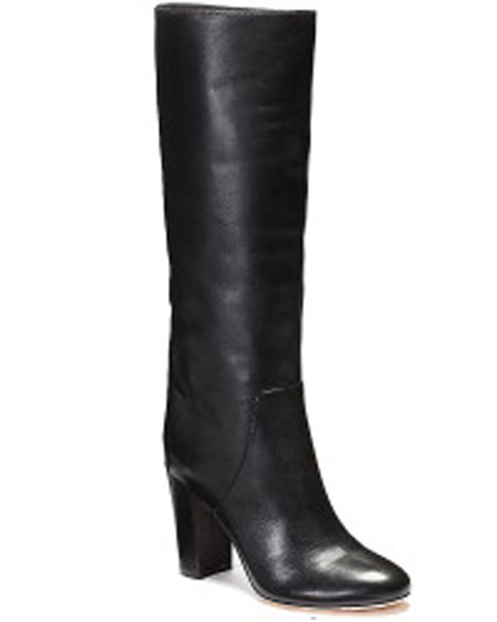 Vince Camuto VC Signature Women's Tiona Black Leather Boots  450 Wide Calf Style