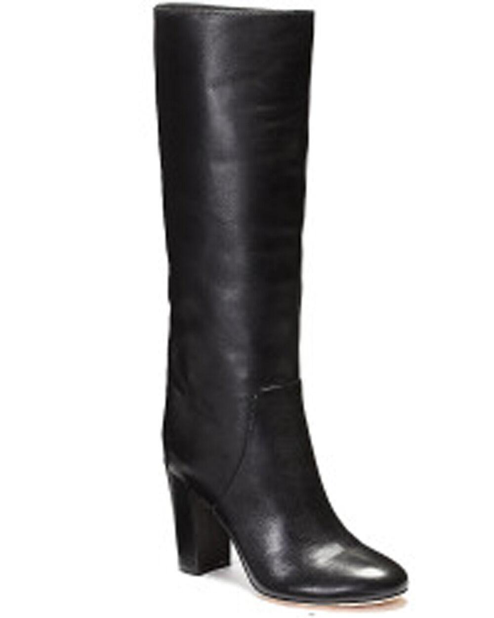 La nueva firma de VC Vince Camuto para mujer botas botas botas de cuero negro a  450 de ancho de la pantorrilla  exclusivo