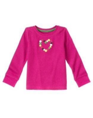 GYMBOREE CHEERY ALL THE WAY PINK SCOTTIE N BOW L//S TEE 3 4 5 6 7 8 9 10 12 NWT