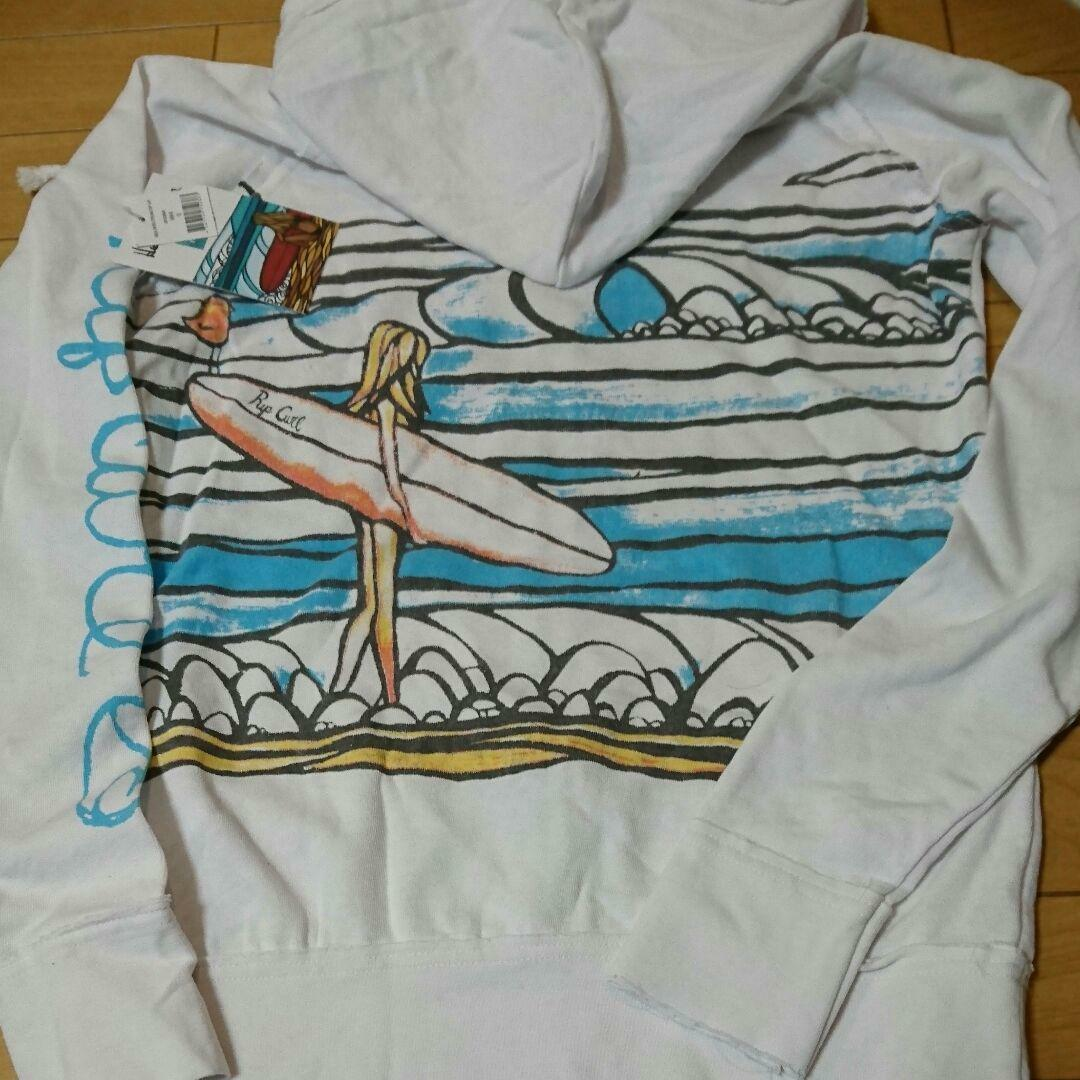Heather Brown x RIP CURL Zip Hoodie White Women's Size S NEW Rare From JAPAN F S