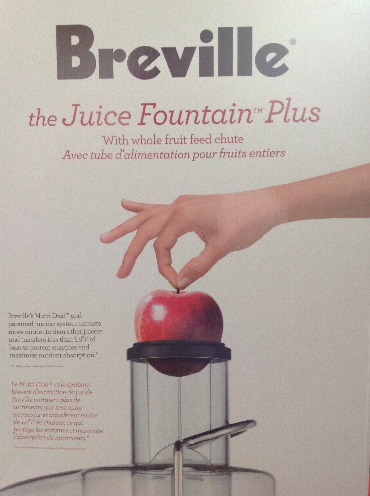 New Breville Grey Juice Fountain Plus