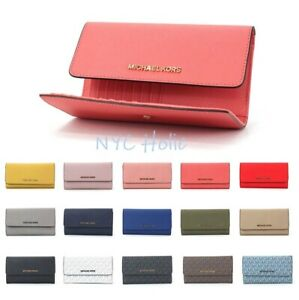 New-Michael-Kors-Large-Trifold-Wallet