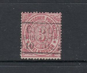 Altdeutschland-Norddeutscher-Bund-Mi-Nr-19-gestempelt-Kastenstempel-Coburg