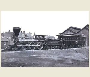 President Abraham Lincoln Funeral Train Photo Engine And Car 1865