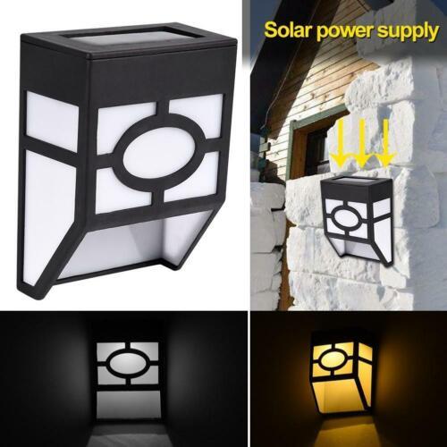4pcs Solar Powered Wall Mount LED Light Outdoor Garden Landscape Fence Yard Lamp