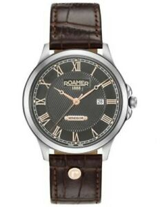 Roamer-Gents-Windsor-Bronze-Dial-Leather-Watch-706856-410207