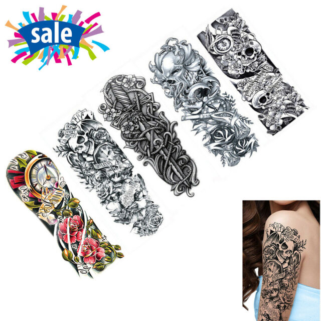 2659c90b5 Frequently bought together. 5x Quality Temporary Tattoo Waterproof Large  Arm Body Art Tattoos Sticker Sleeve