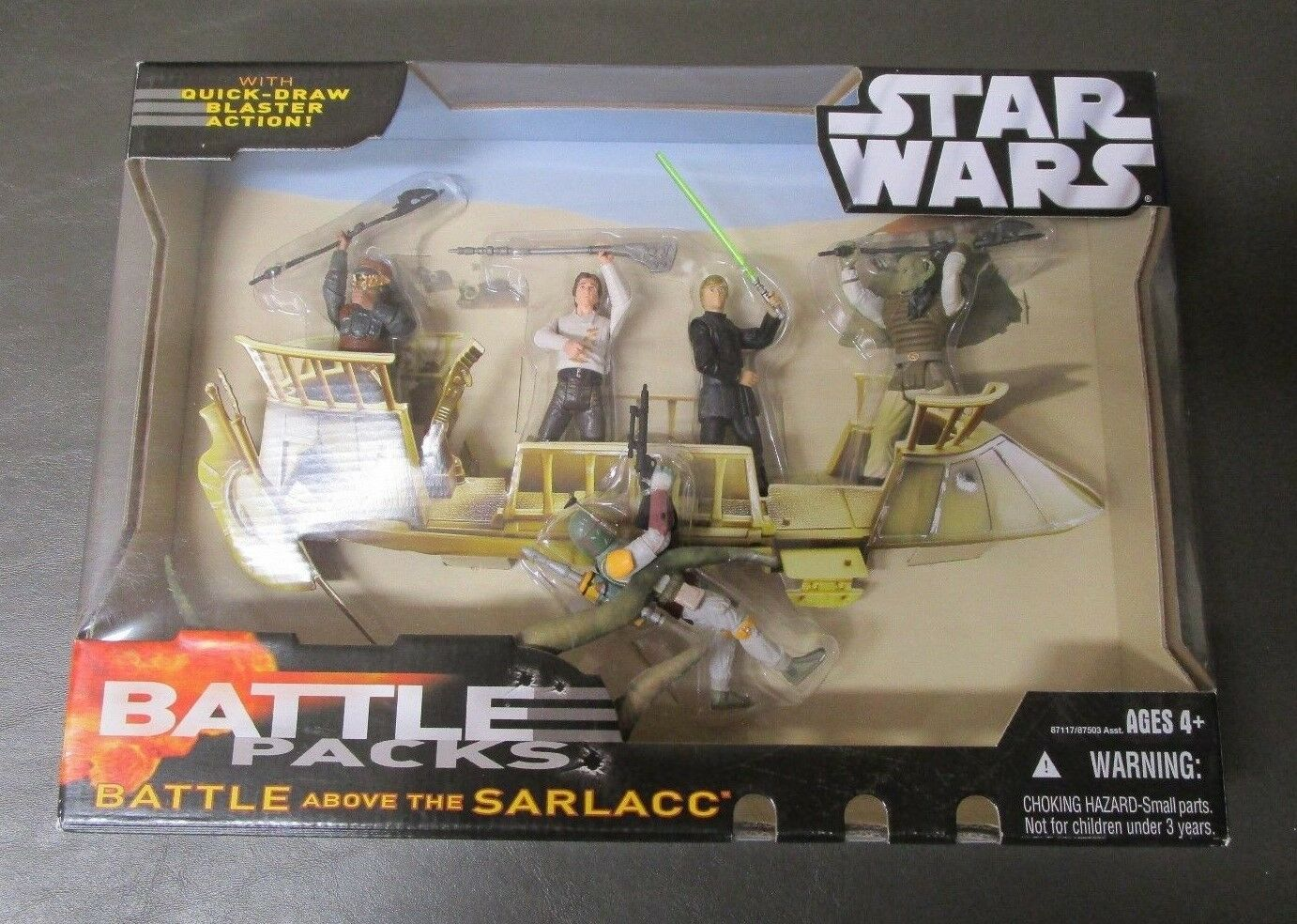 Battle Above the Sarlacc 2005 STAR WARS Revenge of the Sith Battle Pack Packs