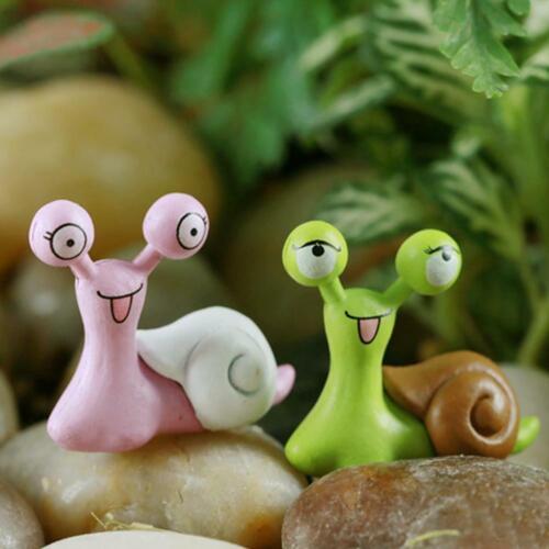 1//10Pcs Miniature Snails Fairy Garden Dollhouse Bonsai Ornaments Figurine J2J7