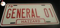 General 01, Dukes Of Hazzard License Plate, General Lee, 69 Charger / Aluminum