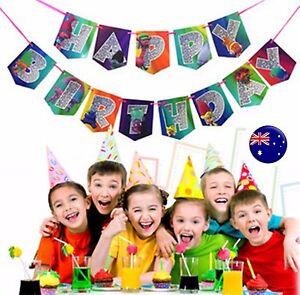 Image Is Loading Girl Kid Boy Trolls Happy Birthday Party Banners