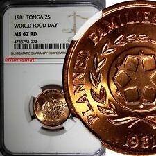 UNC Tonga 1 Seniti 2005 F.A.O Oceania coin km66 - World Food Day