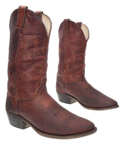 JACK DANIELS Cowboy Boots 9 D Mens Leather Western
