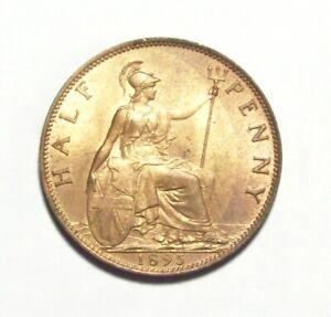 1895-GREAT-BRITAIN-HALF-PENNY-GEM-BU-RED-BROWN-BEAUTIFUL-COIN-GOOD-PICS