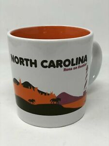 Dunkin Donuts Mug North Carolina Runs On Coffee Cup 2012 Destination Series 16oz