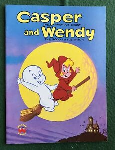 Casper and Wendy Wonder Books Harvey Comics kids book 1987 friendly ghost witch