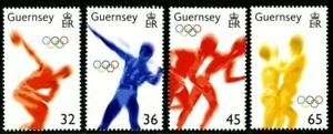 GUERNSEY-2004-OLYMPIC-GAMES-SET-OF-ALL-4-COMMEMORATIVE-STAMPS-MNH-H