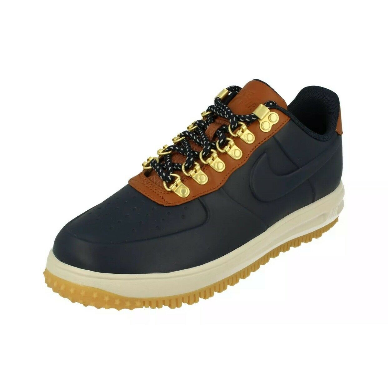 Nike Lunar Force 1 Duckboot Low shoes Obsidian Saddle Brown AA1125-400 Men's NEW