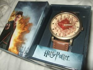 Details about Adult Men\'s Harry Potter The Marauder Map Faux Leather Band  Wrist Watch Wizard