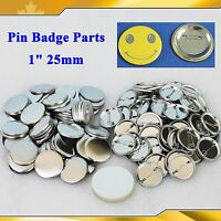 1 25mm 100sets All Metal Pin Badge Button Parts Supplies For Pro Button Maker