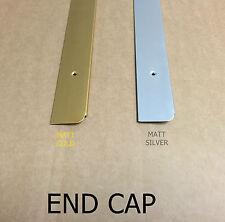 BARGAIN OFFER Kitchen Worktop Edging Trim MATT SILVER END CAP 30mm with screws