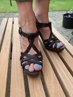 Sandaler, str. 39, Billi Bi, sort, Skindtræ