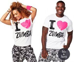 Zumba-I-Love-Zumba-Unisex-Tee-White-size-XS-S-M-L-New