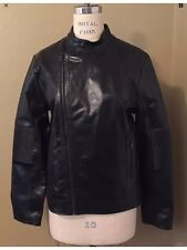 NEW WITH TAGS CALVIN KLEIN BODY FIT MEN'S BLACK LEATHER JACKET