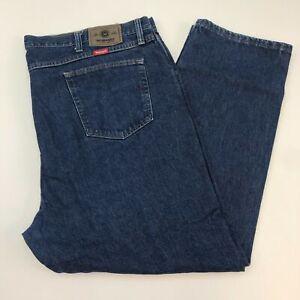 Wrangler-Denim-Jeans-Mens-46X30-Blue-Straight-Leg-Regular-Fit-Cotton-Medium-Wash