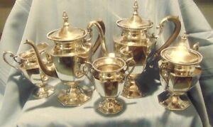 Coffee & Tea Service - Derby Silver Co, Quadruple Plate, Five Piece, series 1683