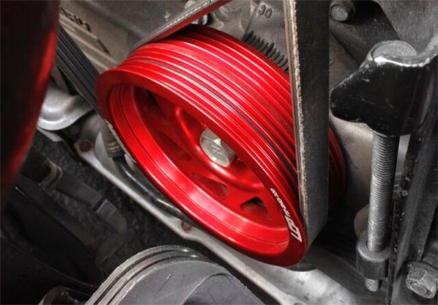 Turbo Under Drive Crank Engine Pulley Aluminum Red For Subaru Impreza WRX 2.0L