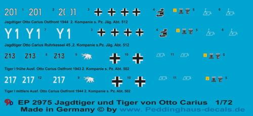 Abt 512 und Tiger der s 1//72 ep 2975 Jagdtiger der s Abt 502 von Jäg Pz Pz
