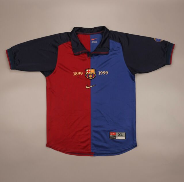 Rare Barcelona 1999 2000 Football Soccer Shirt Jersey Camiseta Nike Size Boys XL