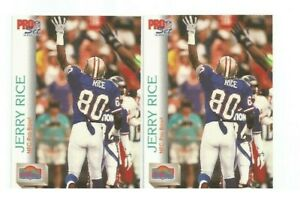 TWO-2-JERRY-RICE-San-Francisco-49ers-1992-PRO-SET-FOOTBALL-CARDS-418