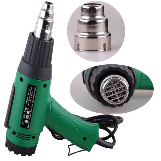 Heat Gun Hot Air 2000W Heating 2-SPEED Dual Temperature Adjustable Tool 50Hz-60H