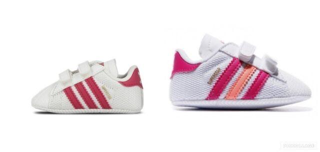 Whitepeachpink Adidas 3 Girls 1st Cb Whitepink Crib Baby 1 Superstar Size ZiXOwPkuT