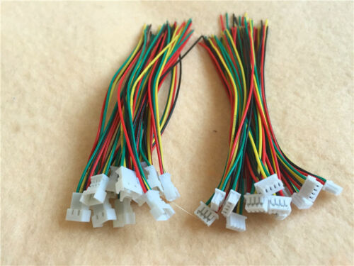 100PAIRS Micro JST 1.25 2 3 4Pin Male/&Female Connector plug with Wires Cables