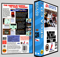 Nhl Hockey 94 - Sega Cd Reproduction Art Dvd Case No Game