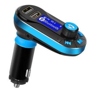 Transmisor-FM-bluetooth-para-Coche-Manos-Libres-Cargador-USB-Adaptador-de-Radio