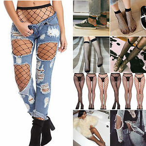 c46cda98df9 Image is loading Womens-Ruffle-Fishnet-Socks-Pantyhose-Mesh-Lace-Tights-