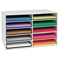 Pacon Classroom Construction Paper Storage 10 Slots 26 7/8 X 16 7/8 X 18 1/2 on sale